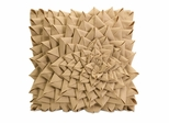 Gold Fontella Hand Sewn Felt Rose Pillow - IMAX - 42122