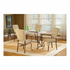 Golden Bronze Harbour Point 5Pc Octagon Dining Set With Parson Chair - Hillsdale