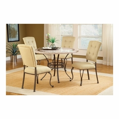 Golden Bronze Harbour Point 5Pc Round Dining Set With Parson Chair - Hillsdale