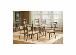 Golden Bronze Harbour Point 7Pc Octagon Dining Set With Metal Oval Chair - Hillsdale