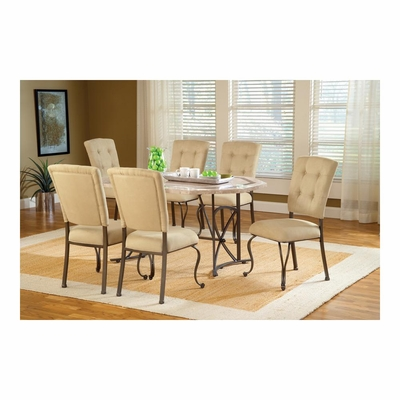 Golden Bronze Harbour Point 7Pc Octagon Dining Set With Parson Chair - Hillsdale