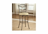 Golden Bronze Harbour Point Double Circle Swivel Bar Stool - Hillsdale