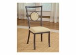 Golden Bronze Harbour Point Metal Dining Chair With Oval Back- Set Of 2 - Hillsdale