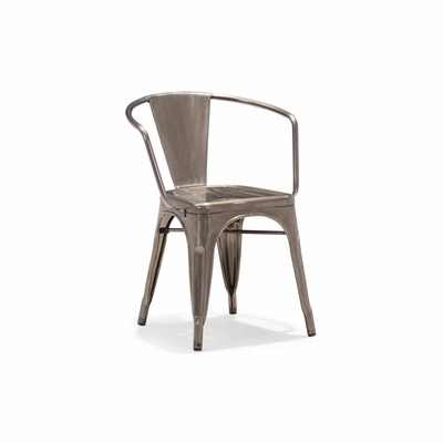 Golem Dining Chair in Gunmetal - Set of 4 - Zuo