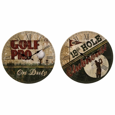 Golf Clocks (Set of 2) - IMAX - 37029-2