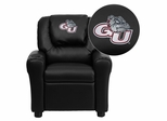 Gonzaga University Bulldogs Black Vinyl Kids Recliner - DG-ULT-KID-BK-40014-EMB-GG