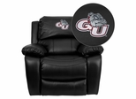 Gonzaga University Bulldogs Leather Rocker Recliner - MEN-DA3439-91-BK-40014-EMB-GG