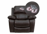 Gonzaga University Bulldogs Leather Rocker Recliner - MEN-DA3439-91-BRN-40014-EMB-GG