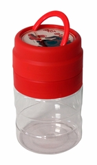GoPet Travelor Food and Water Kit in Clear / Red - NewAgeGarden - ACC006