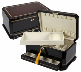 Grace Jewelry Box in Mahogany - JBQ-SA001