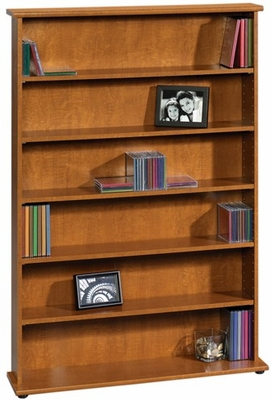 Graham Hill Multimedia Storage Tower Autumn Maple - Sauder Furniture - 408969