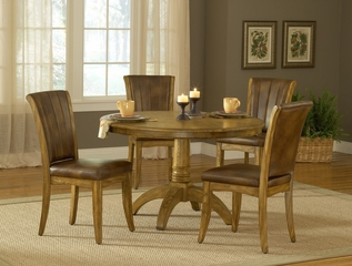 Grand Bay 5-Piece Round Dining Set in Medium Oak - Hillsdale Furniture - 4337DTBRDC