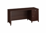 "Grand Expressions 66"" Single Pedestal Desk in Warm Molasses - Kathy Ireland"