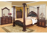 Grand Prado 5PC Bedroom Set in Brown Cherry - 202201X