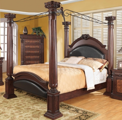 Grand Prado Poster Bed w/ Upholstered Panels - 202201Q