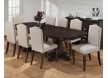 Grand Terrace Dining Table and Upholstered Chair Set - 7PC - 634-102T
