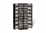 Grande Locking Media Storage Cabinet with Shaker Doors in Black - Prepac Furniture - BLS-0448