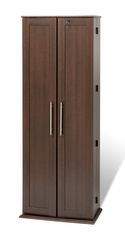 Grande Locking Media Storage Cabinet with Shaker Doors in Espresso - Prepac Furniture - ELS-0448