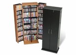 Grande Tall Locking Media Storage Cabinet in Black - Prepac Furniture - BVS-0287