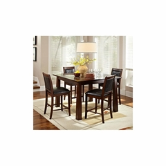 Granita 5Pc Square Dining Set - American Hertiage - AH-713844