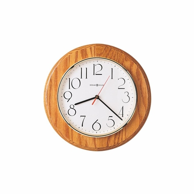 Grantwood Wall Clock in Champagne Oak - Howard Miller