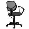 Gray Mesh Computer Chair with Arms - WA-3074-GY-A-GG