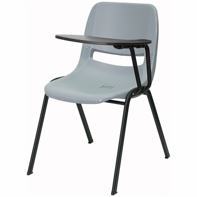 Gray Tablet Arm Chair Desk with Left Side Tablet - RUT-EO1-GY-LTAB-GG