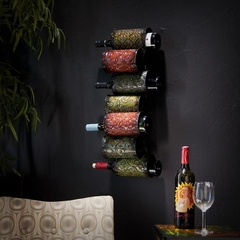 SEI Grazia Wall Mount Wine Storage