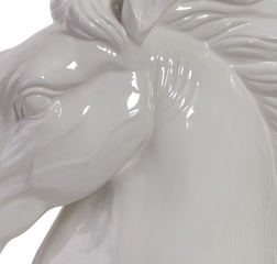 Great White Stallion Bust - IMAX - 34041