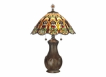 Green Leaf Tiffany Table Lamp - Dale Tiffany