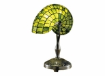Green Nautilus Table Lamp - Dale Tiffany