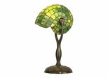 Green Nautilus Table Lamp - Small - Dale Tiffany