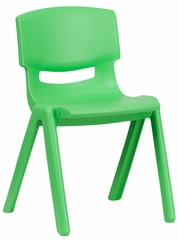 Green Plastic Stackable School Chair - YU-YCX-004-GREEN-GG
