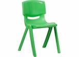 Green Plastic Stackable School Chair - YU-YCX-007-GREEN-GG