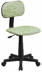 Green & White Zebra Print Computer Chair - BT-Z-GN-GG