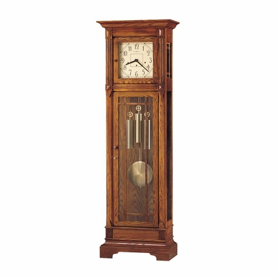 Greene Grandfather Clock in Heritage Oak - Howard Miller