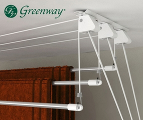 Greenway Indoor 3-Rod Laundry Lift - Greenway Home Products - GCL3LL