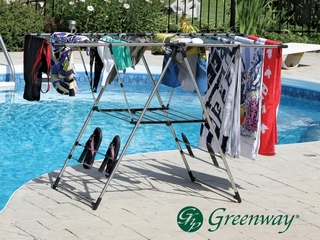 Greenway Indoor/Outdoor X-Large Stainless Steel Fold Away Laundry Rack - Greenway Home Products - GFR0501SS