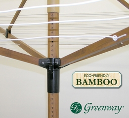 Greenway Outdoor Deluxe Bamboo Fold Away Clothesline - Greenway Home Products - GCL9FAB