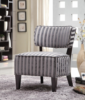 Grey Stripes Armless Accent Chair - 900421