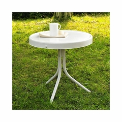 "Griffith Metal 20"" Side Table in White - CROSLEY-CO1011A-WH"