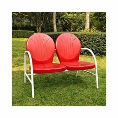 Griffith Metal Loveseat in Red - CROSLEY-CO1002A-RE