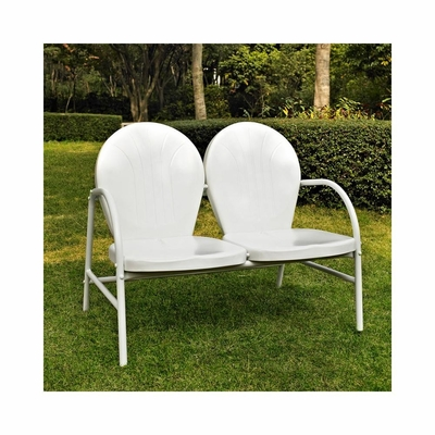 Griffith Metal Loveseat in White - CROSLEY-CO1002A-WH