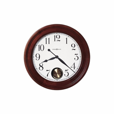 Griffith Wall Clock in Windsor Cherry - Howard Miller