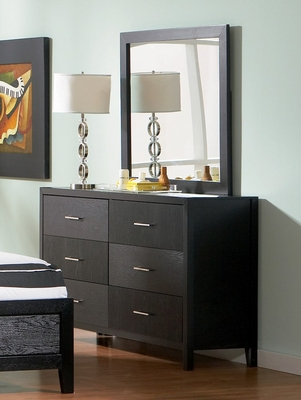 Grove Dresser with Mirror in Black - Coaster - 201653-54-SET