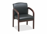Guest Chair - Black/Cherry Frame - LLR60470
