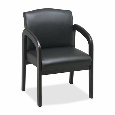Guest Chair - Black/Espresso Frame - LLR60469