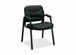 Guest Chair - Black Leather - BSXVL643ST11