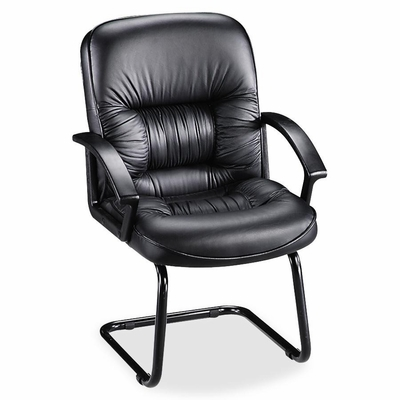 Guest Chair - Black Leather - LLR60114