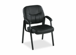 Guest Chair - Black Leather - LLR60122